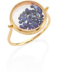 Aurelie Bidermann - Blue Sapphire & 18k Yellow Gold Chivor Ring - Lyst