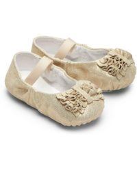 Bloch - Baby's Raphaela Metallic-leather Ballet Flats - Lyst