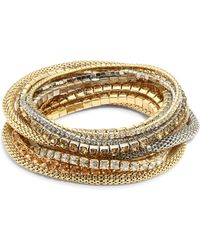 ABS By Allen Schwartz - Multi Crystal Stretch Bracelet Set - Lyst