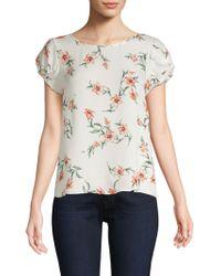 Joie - Elline Floral Silk Blouse - Lyst