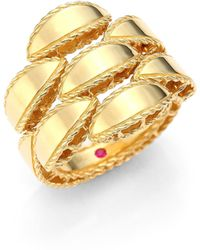 Roberto Coin - Retro 18k Yellow Gold Ring - Lyst