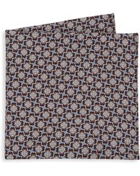 Saks Fifth Avenue - Collection Printed Silk Pocket Square - Lyst