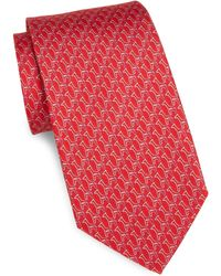 Ferragamo - Silk Paperclip Giraffe Tie - Lyst