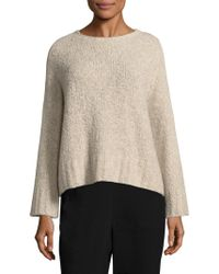 Eileen Fisher - Boucle Crop Box Top - Lyst