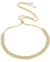 Fallon - Armure Pave Stone Curb Choker Necklace - Lyst