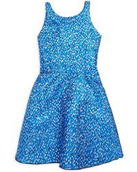 Zoe - Girl's Reign In Royal Rea Metallic Brocade Swing Dress - Lyst