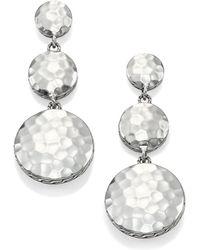 John Hardy - Palu Sterling Silver Disc Triple Drop Earrings - Lyst