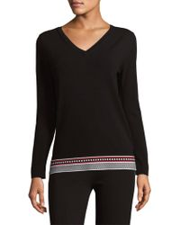 ESCADA - Knit V-neck Pullover - Lyst