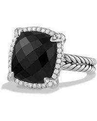 David Yurman - Chatelaine Pave Bezel Ring With Black Onyx And Diamonds - Lyst