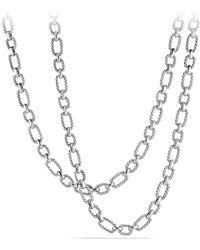 David Yurman - Chain Cushion Link Chain Necklace - Lyst