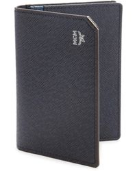 MCM - New Bric Two Fold Leather Card Wallet - Lyst