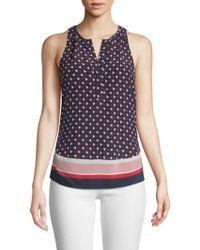 Joie - Xandry Printed Sleeveless Silk Top - Lyst
