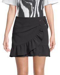 Opening Ceremony - Women's Will Ruffle Mini Skirt - Black - Lyst