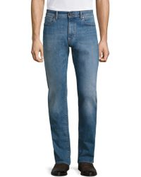 Luciano Barbera - Straight-fit Five-pocket Stretch Jeans - Lyst