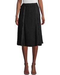 Donna Karan - Textured Pleat A-line Skirt - Lyst