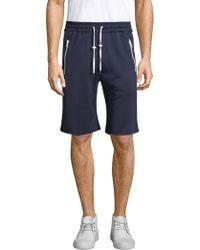 The Kooples - Vintage Fleece Jogging Shorts - Lyst