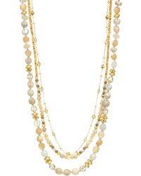 Chan Luu - Mutli Brioche Agate Mix Pre-layered Necklace - Lyst