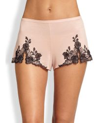 Josie Natori - Charlize Lace Embroidered Tap Shorts - Lyst