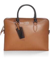 Burberry - Barrow Leather Briefcase - Lyst