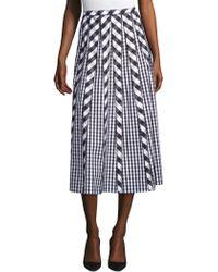 Lafayette 148 New York - Adalia Check Pleated Skirt - Lyst