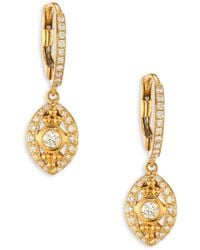 Temple St. Clair - Evil Eye Diamond & 18k Yellow Gold Drop Earrings - Lyst