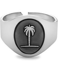 Miansai - Sterling Silver Palm Tree Band Ring - Lyst