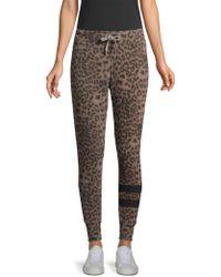 Sundry - Leopard Print Jogger Trousers - Lyst