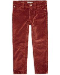 DL1961 - Little Girl's Chloe Skinny Velvet Trousers - Lyst