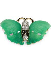 Kenneth Jay Lane - Jade Wing Butterfly Pin - Lyst