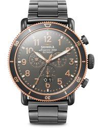 Shinola - Runwell Sport Gunmetal Watch - Lyst