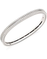 Roberto Coin - Portofino 18k White Gold & Diamond Bangle - Lyst
