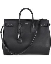 Saint Laurent - Carry All Leather Briefcase - Lyst