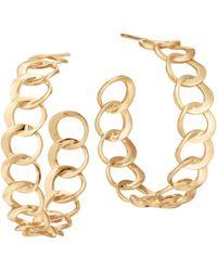 Lana Jewelry - 14k Yellow Gold Bond Link Hoop Earrings - Lyst