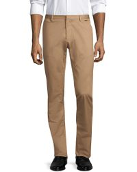 HUGO - Helgo Stretch Cotton Trousers - Lyst