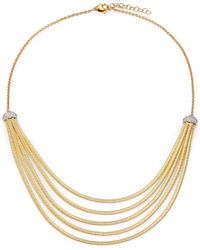 Marco Bicego - Cairo Diamond & 18k Yellow Gold Five-row Bib Necklace - Lyst