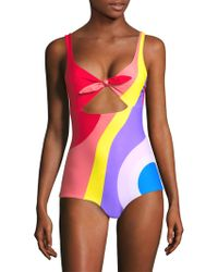 Mara Hoffman | Adeline Front Knot One-piece Swimsuit | Lyst
