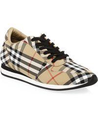 Burberry - Amelia Antique Sneakers - Lyst