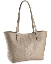 Gigi New York - Taylor Mini Python-embossed Tote - Lyst