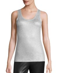 Majestic Filatures - Metallic Scoopneck Tank Top - Lyst