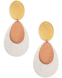 Stephanie Kantis - Chime Tri-tone Double-drop Clip-on Earrings - Lyst