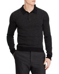 Ralph Lauren Purple Label - Jacquard-knit Cashmere Polo Sweater - Lyst