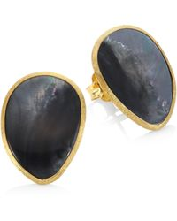 Marco Bicego - Lunaria Black Mother-of-pearl & 18k Yellow Gold Earrings - Lyst