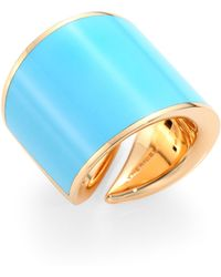 Vhernier - Vague 18k Rose Gold & Turquoise Ring - Lyst