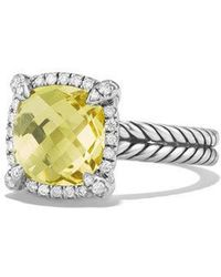 David Yurman - Châtelaine Pave Bezel Ring With Lemon Citrine And Diamonds - Lyst