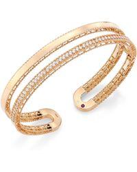 Roberto Coin - Double Symphony Diamond & 18k Rose Gold Bangle - Lyst