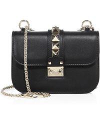 Valentino - Rocklock Small Leather Cross-Body Bag - Lyst