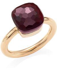 Pomellato - Nudo 18k Rose Gold, White Gold & Garnet Ring - Lyst
