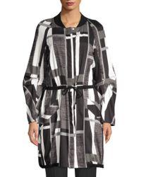 Natori Stripes Drawstring Josie Cotton Lyst Taisho Jacket wTnEfBdBFq