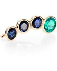 Jacquie Aiche - Emerald Sapphire 14k Yellow Gold Ear Cuff - Lyst