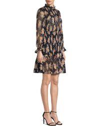 Rebecca Taylor - Bouquet Floral Print Silk Blend Mini Dress - Lyst